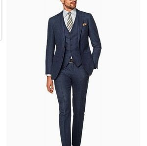 Suitsupply Lazio 3pc Blue Checker Suit